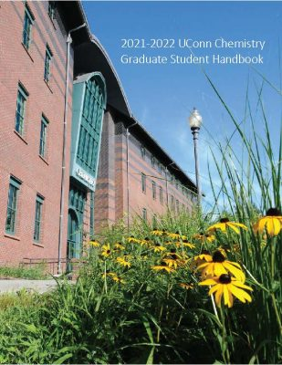 Cover of handbook showing Chemistry Building
